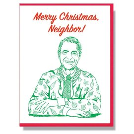 Smitten Kitten Holiday Card - Mr. Rogers Neighbor