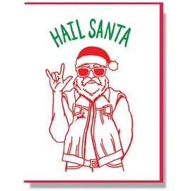 Smitten Kitten Holiday Card - Hail Santa
