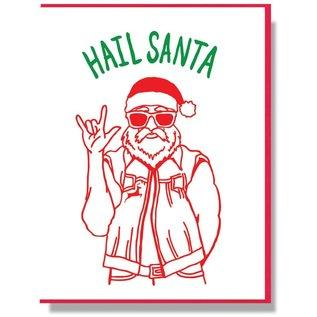 Smitten Kitten Holiday Card - Hail Santa