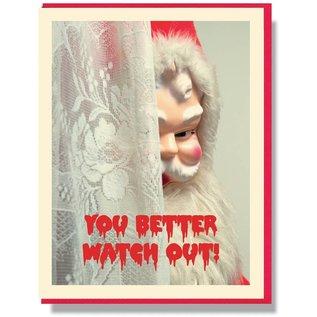 Smitten Kitten Holiday Card - You Better Watch Out