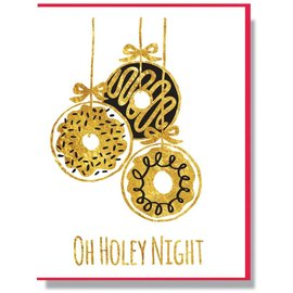 Smitten Kitten Holiday Card - Oh Holey Night