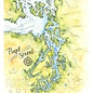 Elizabeth Person Puget Sound Map 8x10 Print