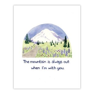 Yardia Love Card - The Mountain is Out