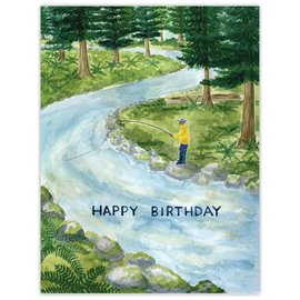 Yardia Birthday Card - Fishing