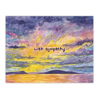 Yardia Sympathy Card - With Sympathy Sunset