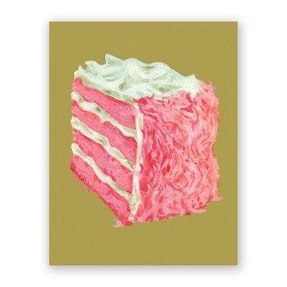 Mincing Mockingbird Birthday Card - Pink Cake