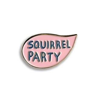 Mincing Mockingbird Squirrel Party Enamel Pin
