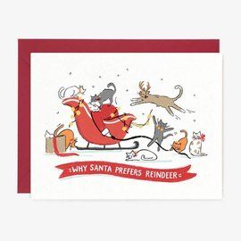 Paper Pony Co. Holiday Card - Santa Prefers Reindeer
