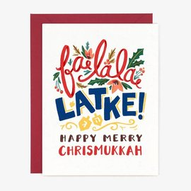 Paper Pony Co. Holiday Card - Fa La Latke