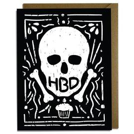Kat French Design Birthday Card - HBD Skull