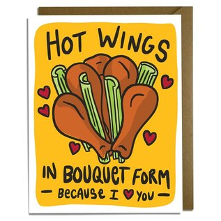 Kat French Design Love Card - Hot Wing Bouquet