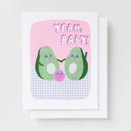 Yellow Owl Workshop Baby Card - Yeah, Baby! Avocado