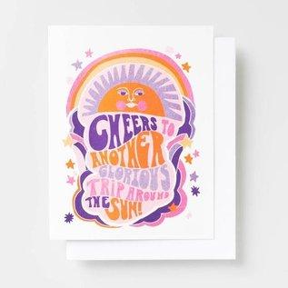 Yellow Owl Workshop Birthday Card - Trip Around The Sun