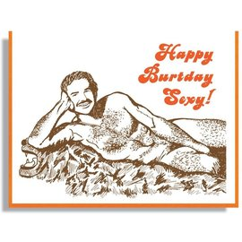 Smitten Kitten Birthday Card - Burt Reynolds