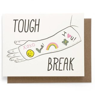 Smarty Pants Paper Get Well Card - Tough Break