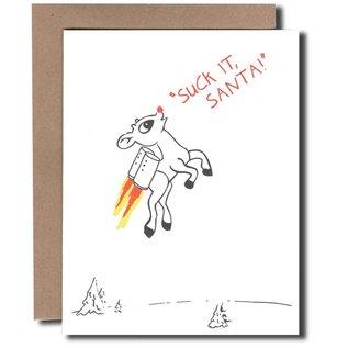 Power and Light Press Holiday Card - Suck It Santa!