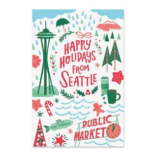 Paper Parasol Press Seattle Holiday Boxed Postcards