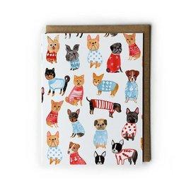 Yuko Miki Holiday Card - Doggies in Sweaters