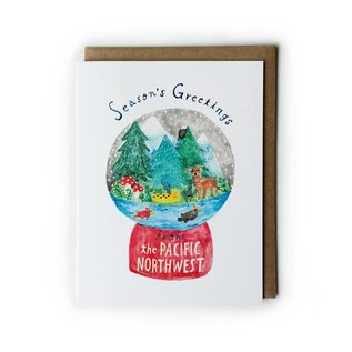 Yuko Miki Holiday Card - PNW Snowglobe