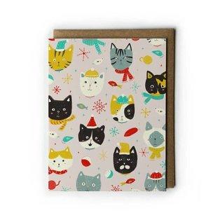 Yuko Miki Holiday Card - Winter Kitties