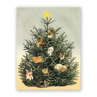 Mincing Mockingbird Holiday Card -  Cat Ornaments