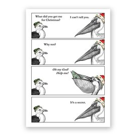 Mincing Mockingbird Holiday Card - Pelican Christmas