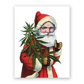 Mincing Mockingbird Holiday Card - Santa & Cannabis