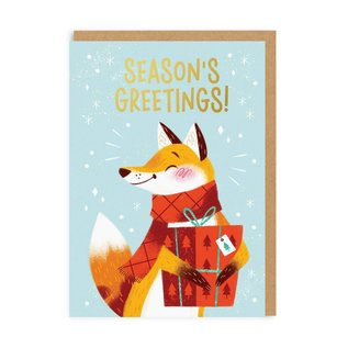 Ohh Deer Holiday Card - Season's Greetings Fox