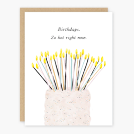 Party of One Birthday Card - So Hot Right Now