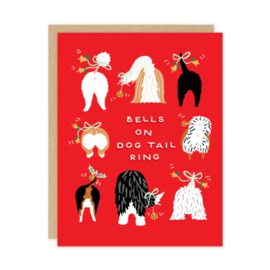 Party of One Holiday Card - Dog Tails