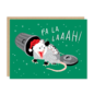 Party of One Holiday Card - Fa La Possum