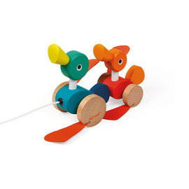 Janod Toys Zigplos Pull Along Ducks