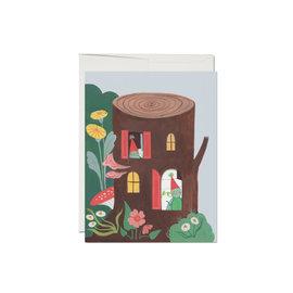 Red Cap Cards Birthday Card - Happy Birthday Log