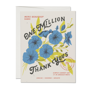Red Cap Cards Thank You Card - One Million Thank Yous