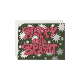 Red Cap Cards Holiday Card - Sparkling Merry