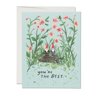Red Cap Cards Greeting Card - Garden Gnomes