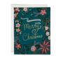 Red Cap Cards Holiday Card - Blue Poinsetta