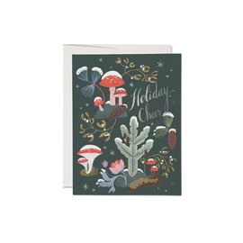 Red Cap Cards Holiday Card - Holiday Moss Foil