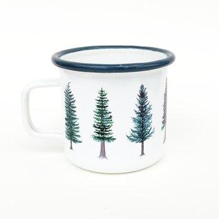 Yardia Evergreen Trees Camp Mug