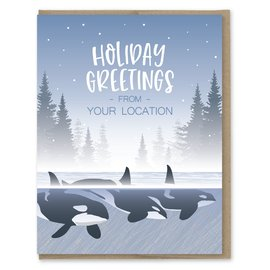Modern Printed Matter Seattle Orcas Holiday Boxed Notes