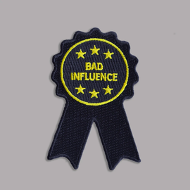 Boldfaced Goods Bad Influence Ribbon Patch