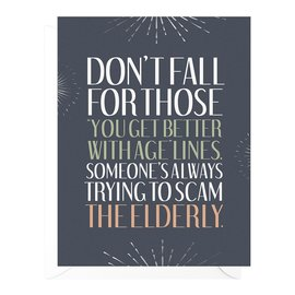 Peopleisms Birthday Card - Scam the Elderly