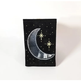 Jasmine Gil Moon/Stars Cut-out Pocket Journal