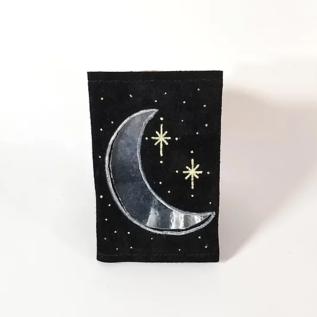 Jasmine Gil Moon/Stars Cut-out Pocket Journal