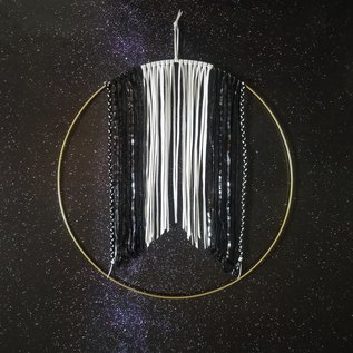 Jasmine Gil Black and White Leather Wall Hanging