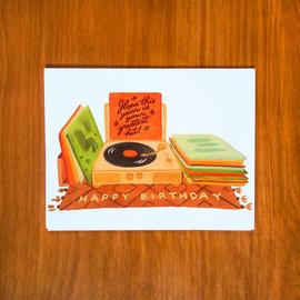 Pretty Bird Paper Co. Birthday Card - Record Player