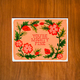 Pretty Bird Paper Co. Valentine's Day Card - Mighty Fine