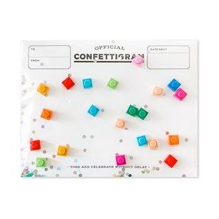 Inklings Paperie Birthday Card - Bricks Confettigram