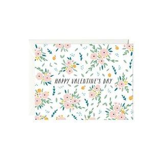 Paula & Waffle Valentine's Day Card - Bouquet