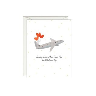 Paula & Waffle Valentine's Day Card - Sending Love Plane